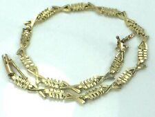"Fish skeleton design bracelet.8"".4.1gm. Awesome 14K yellow gold Motion"