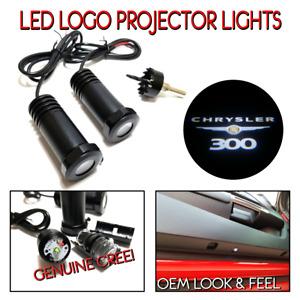 Lumenz CL3 White LED Courtesy Logo Lights Ghost Shadow for Chrysler 300 100637