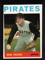 """1964 Topps #20 Bob Friend Pittsburgh Pirates Card """"mrp-collectibles"""" VG/EX"""