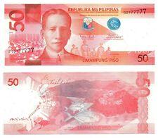 2015 PHILIPPINES 50 Pesos Solid Serial QD777777 NGC Aquino III & Tetangco UNC