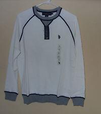 U.S. POLO ASSN. Crew w/ Contrast White Men's Dress Sweater Size Small