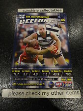 2006 AFL TEAMCOACH BASE CARD GEELONG NO.110 PAUL CHAPMAN