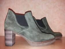Bequeme GABOR Schlupf Stiefelette NEU Gr. 7,5 41,5 in khaki & Nubukleder