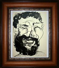Vtg Pablo Picasso Pencil Hand Signed Aquatint Etching Laughing Man Buffon 1943
