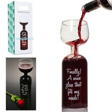 Wine Bottle Glass Large Novelty Full 700 ml Bottle of Wine Drinking Party Gift