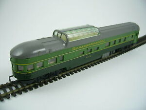 Tri-ang  R336 Transcontinental Observation Car Duo Tone Green No. 9119, OO Gauge