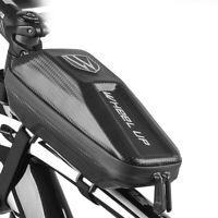 WHEEL UP MTB Road Bike Bag Waterproof PU Cell Phone Cycling Front Tube Frame Bag