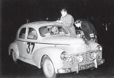 carte postale - Peugeot 203 Rallye Monte-Carlo 1954