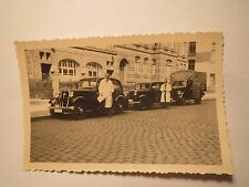 Triton-BELCO 2 Men in coats before Car Truck Lorry Vintage Photo Hanover?