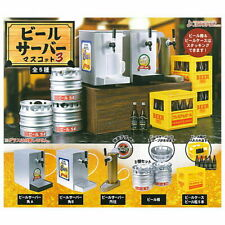 J Dream Toys Capsule Gashapon Beer Server Beer Barrel Part 3 Full Set 5 pcs