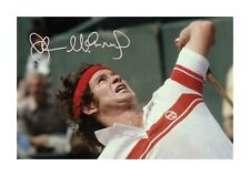 John McEnroe 1 A4 signed mounted photograph poster with choice of frame