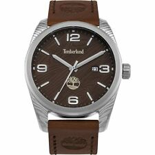 Timberland Mens Gents Jaffery Brown Leather Wrist Watch 15258JS/12