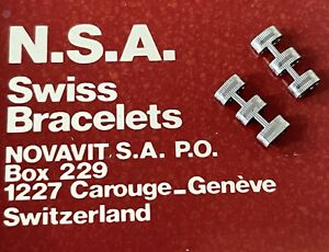 NSA watch bracelet end CENTER CONNECTORS Rado DiaStar Golden Purple Green Horse