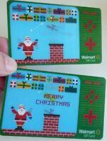 Walmart Gift Card - Lenticular / 3D - SANTA Video Game - No Value - I Combine