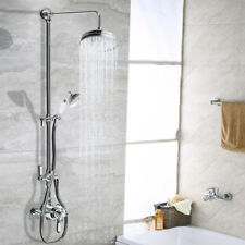 Traditional Victorian Thermostatic Shower Set Brass Mixer Valve Dual Shower Head