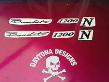 BANDIT 1200 N CUSTOM DESIGN FAIRING SEAT DECALS STICKERS GRAPHICS