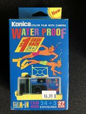 Konica Minolta Iso 400 Water Proof Color Film With Camera New Vintage disposable