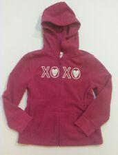 Gymboree Girl's Pink Fleece XOXO heart sweatshirt hoodie 5-6 Valentines Day