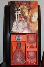 Cristal D'Arques Masquerade Crystal Decanter & Two Brandy Glasses 24% pbo