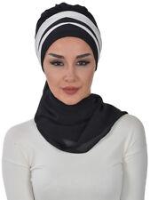 HT-52 Fertig Kopftuch Praktisch Hijab Chiffon Türban Esarp Sal Tesettür Khimar