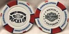 Harley-Davidson® of Rocklin, CA Collector Poker Chip White/Red/Blue NEW