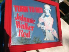 JOHNNIE  WALKER  RED    BAR   SIGN   CUSTOM  MADE   23.5''  X  19.5''