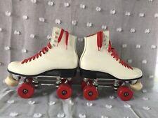 "Rare Roller Skates Size 8 Sure Grip Jump Bar ""8 Canadian Red Wheels"" Jam Dancing"