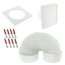 "Venting Kit For Beko Tumble Dryer External Vent Wall Outlet 4"" 100mm White"