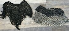 2 Beautiful Black Beaded  Shawl coverup Wrap ( 1 black &1 black with silver bead