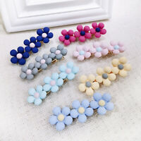 Summer New Sweet Girl Color Hairpin Metal Flower Hair Clip Wedding  Barrette