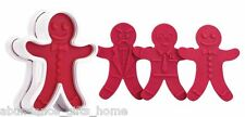 Tovolo Ginger Boys Gingerbread Christmas Cookie Cutter Set w/ 6 Unique Designs