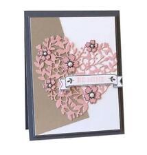 Corazón San Valentín//Boda//// Butterly//flor//rosa//Metal Corte Die//Lovely
