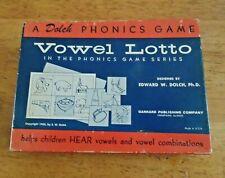 Vintage 1956 Vowel Lotto Game