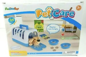 Pet Care Play Set 34 Pieces Vet Clinic and Cage Toy Pretend Play for Kids F-422