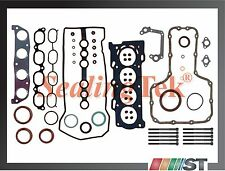 2000-08 Toyota 1.8L 1ZZFE VVT-i Engine Full Gasket Set w/ Head Bolts Kit 1ZZ-FE