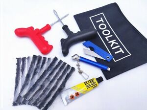 CAR VAN TRUCK MOTORCYCLE TYRE TIRE PUNCTURE REPAIR KIT WITH 15 STRIPS WITH GIFT