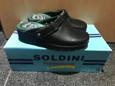 Soldini Classic Eco Italian Full Grain Leather Clog 2412-P-14-E