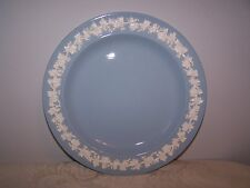EMBOSSED WEDGWOOD BLUE WITH WHITE QUEENS WARE 8'' SALAD / LUNCHEON DESERT PLATE