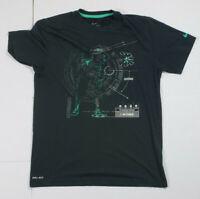 Kobe Bryant Nike Mens T-Shirt Invincible Predator Size M Black Dri-Fit Rare