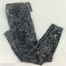 Under Armour MEN'S Athletic Pants Compression HeatGear Gray Black Print  Size M
