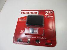 TOSHIBA 2TB USB 3.0 EXTERNAL HDTC820CK3C1 HARD DRIVE & 32GB MICROSDHC APPLE
