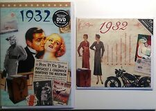 1932 85th Birthday Gifts Set - 1932 DVD , Pop CD and Card - CD Card Company