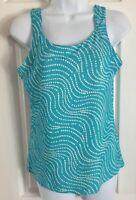 Columbia PFG Omni-Freeze Aqua Teal Sleeveless Tank Top Shirt Women's size Medium