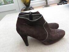 Boden  ladies brown  suede leather ladies shoe boots bronze detail  6/39