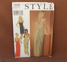 Style Misses Evening Dress Sizes 8-18 Uncut Pattern 1029