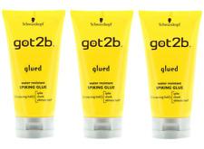 3 X Schwarzkopf Got2b Glued Spiking GLUE 150ml strong hold gel for Hair