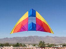 """Delta Box Kite Mesa DC Delta Conyne 71 x 30"""" RipStop Nylon + Reel + Line + Tails"""