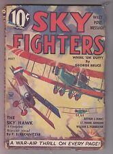 Sky Fighters May 1935 Air War Pulp Mag Arthur J. Burkes George Bruce Rechnitzer