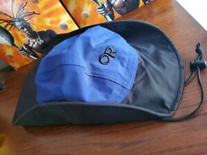 Vtg 90s Outdoor Research OR Gore-Tex Boonie Bucket Hiking Hat Cap Made USA Blue