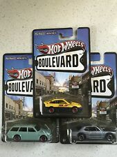 Hot Wheels Lot Of 3 Datsun 510 Wagon Nissan Skyline & Honda CRX Boulevard Series